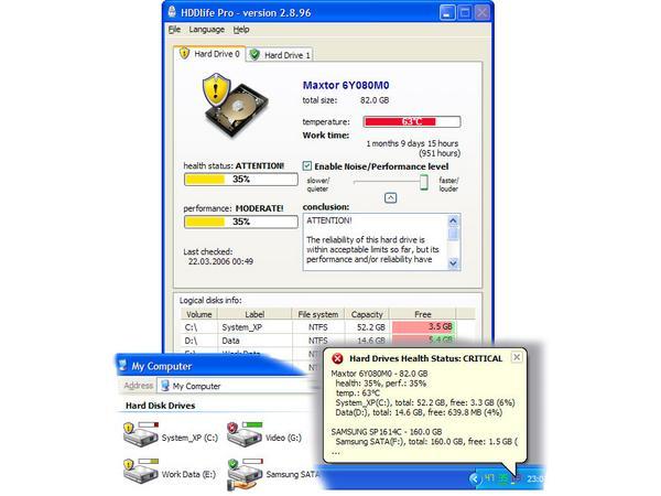 Скачать бесплатно HDDlife Pro v.2.9.105.